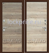 Входная металлическая дверь GROFF Т3-300 Tobacco Oak/Natural Oak
